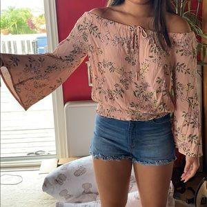 BNWT Off the shoulder floral top